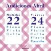 Audiciones Abril 2015